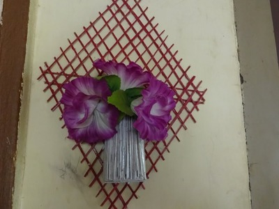 How To Make Wall Hanging - Wall Flower Vase  Video by AmmaArts