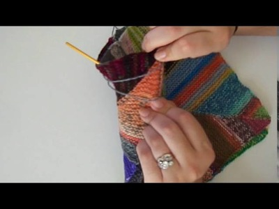 How To Seam Blocks Together for the Pinwheel Scrap Blanket - A Knitting Expat Tutorial
