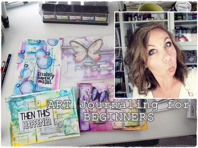 How to START? How to Break A Blank Page? Mixed Media Art Journaling part 3