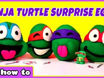 Ninja Turtles Play Doh Surprise Eggs by HooplaKidz How To