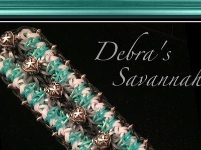 Rainbow Loom Band Debra's Savannah Bracelet Tutorial.How To
