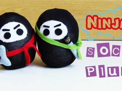 Sock Plushie DIY - How to make a Ninja Plushie