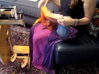 What is a silk lap and how to spin it woolen longdraw