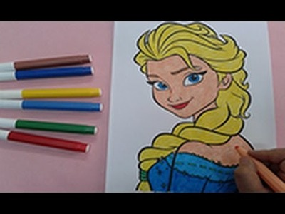 Arts for kids : How to color frozen colouring pages , princess coloring pages , speed coloring