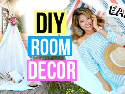 DIY Room Decor 2016! Easy Summer Fort!
