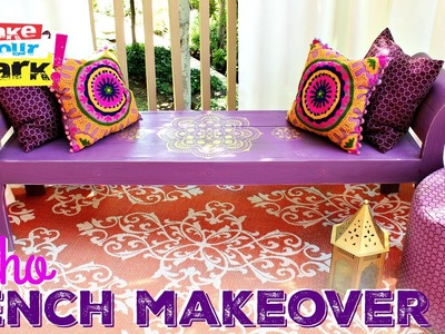 How to: Boho Bench Makeover