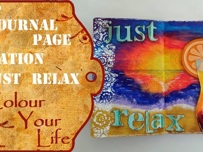 How to create an Art Journal page -  to dream of a vacation