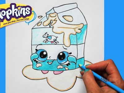 How to Draw Shopkins Season 1 Spilt Milk Step By Step Easy | Toy Caboodle