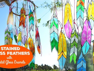 HOW TO: Faux Stained Glass Feathers