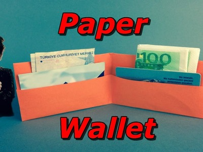 How To Make A Paper Wallet In A 1 Minute (Origami )