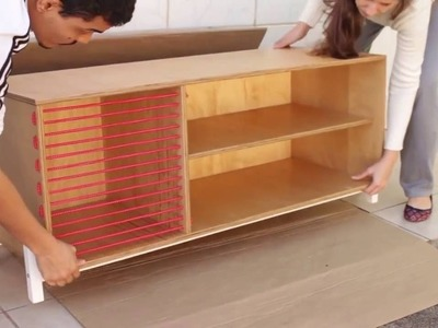 How to make a TV stand. 5-minute craft