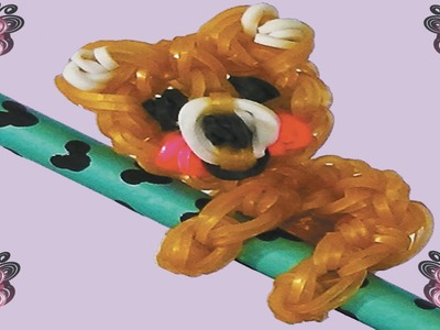 How to make bears loom bands to decorate your pencils without rainbow loom with forks