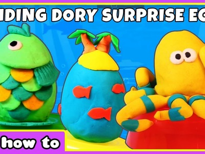 How To Make Finding Dory Play Doh Surprise Eggs by HooplaKidz How To