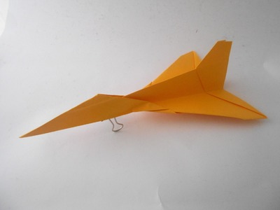 How to make Paper Airplane For Beginner - Easy Origami Jet Fighter Paper Plane - Origami Paper