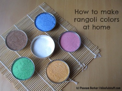 How to make rangoli colors at home | DIY Rangoli colors using rice flour and salt