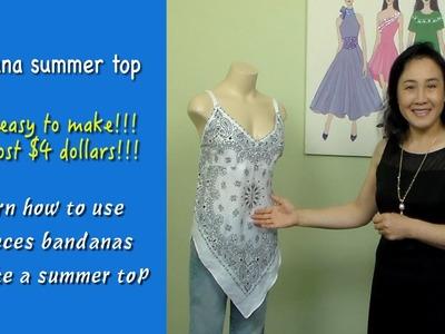 "How to make summer tops ""bandana summer tops""  video#26"