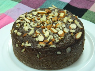 How To Make - Whole Wheat Chocolate Cake. Eggless Cooker Aatta Cake  - By Food Connection