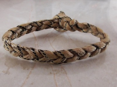 How To Tie A Three Strand Braid Loop And Knot Closure Paracord  Bracelet