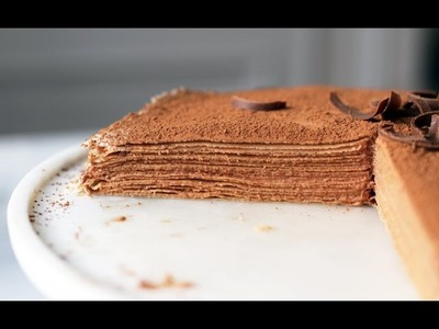 Lilyshop How to make a Chocolate Crepe Cake