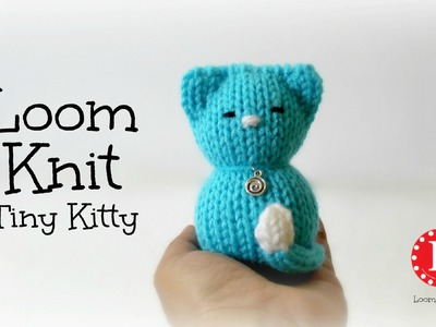 LOOM KNITTING Tiny Kitty Cat on Small Circle Looms Pattern Amigurumi