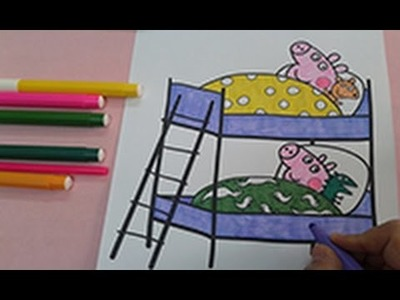 Painting for kids : How to color peppa pig colouring pages , coloring for kids , speed coloring
