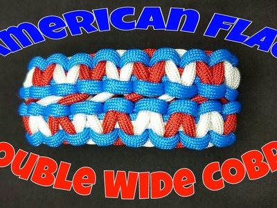 Paracord How To Make An American Flag Double Wide Cobra
