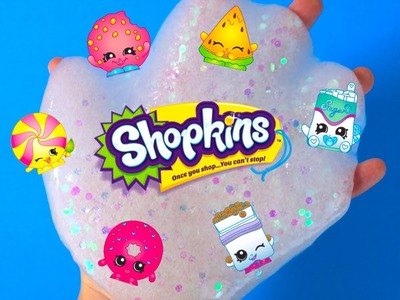 SHOPKINS SLIME How To Make Your Own Clear Slimy Sparkle Putty