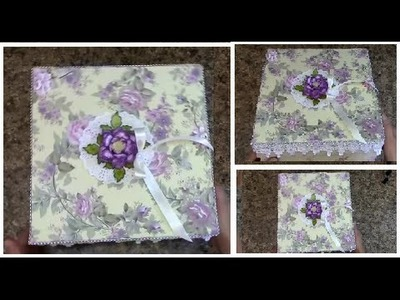 TUTORIAL   HOW TO MAKE A STURDY 10 x 10 GIFT  BOX    DESIGNS BY SHELLIE