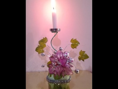 Best Out Of Waste Plastics Bottles Transformed to Pretty Candle Holder