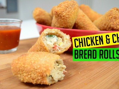 Bread Rolls with Chicken and Cheese | Indian Cooking Recipes | Cook with Anisa | Ramadan Recipe