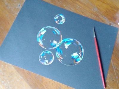 Bubbles Painting- how to paint bubbles tutorial