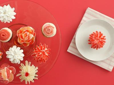 Candy Flower Cupcakes - Martha Stewart
