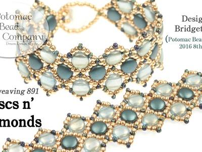Discs n' Diamonds (Bracelet Tutorial)