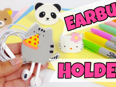 EASY,KAWAII CRAFTS:earbud holder (Rilakkuma,Pusheen,Hello Kitty and Panda bear)