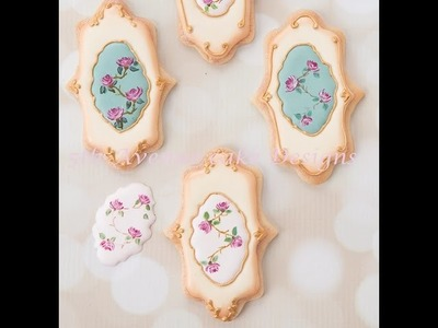How to Decorate Hand Painted Vintage Rose Cookies