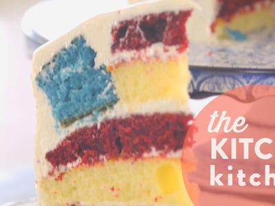 How to Make a Secret Flag Cake. Living Deliciously