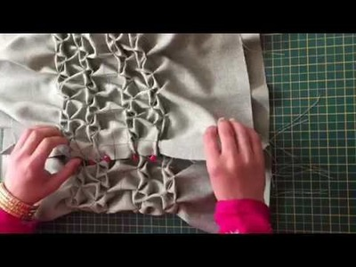 How To Make A Very Beautiful Round Cushion Using Smocking by Rose
