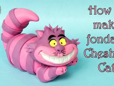 How to make fondant Cheshire Cat. Jak zrobić figurkę kota z Cheshire