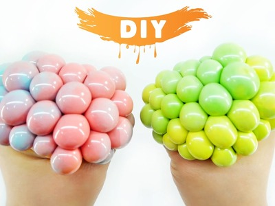 How to Make Squishy Mesh Slime Ball! DIY Two-tone Stress Ball!