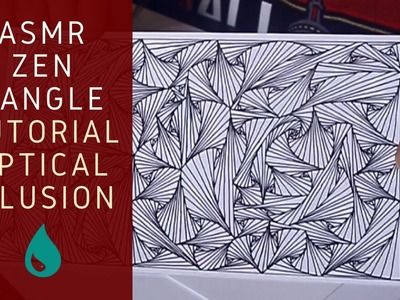 Make This Line ILLUSION Yourself! Giveaway + ASMR Drawing Tutorial ~ How to Zentangle