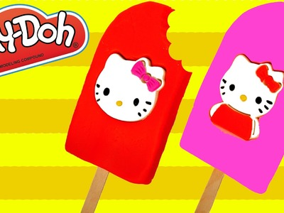 Play Doh Ice Cream Popsicle Hello Kitty How to Make