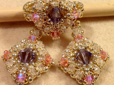 The Princess Set  ring and earring tutorial