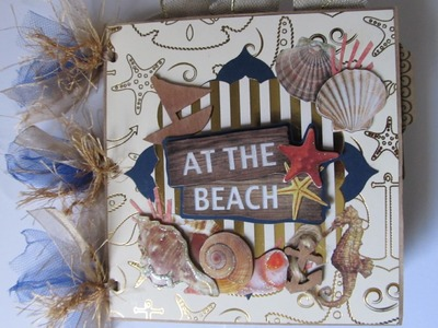 Two Beach.Summer Themed Scrapbook Mini Albums