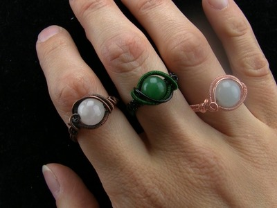 Wire Wrapping Tutorial: Begginer Gemstone Bead Ring