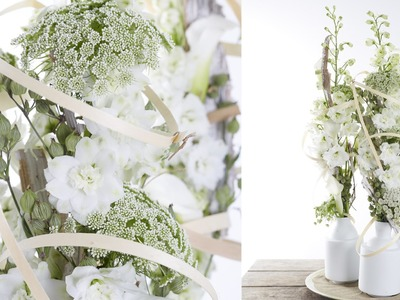 How to arrange a flower arrangement summer style tutorial
