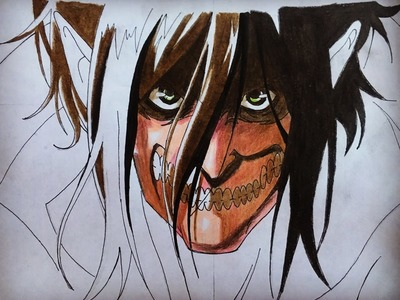 How to draw Eren titan form (Attack on Titan) step by step tutorial