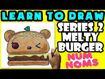 ★How To Draw Num Noms Series 2: Melty Burger ★ Learn How To Draw Num Noms, Drawing Num Noms