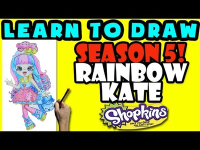 How To Draw Shoppies Shopkins: Rainbow Kate, Step By Step Shoppies Drawing Shopkins