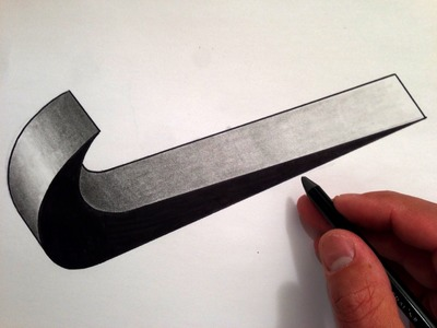 How to Draw the Nike Swoosh in 3D