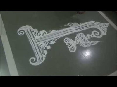 How to draw Unique Rangoli design Creative Rangoli Diya Rangoli by Satish Thavi